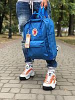 Рюкзак Fjallraven Kanken, синего цвета. Стильный городской рюкзак. , фото 1