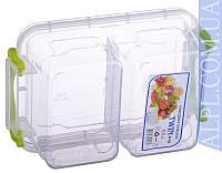 Контейнер для хранения продуктов с зажимами TWIN- 0,5л