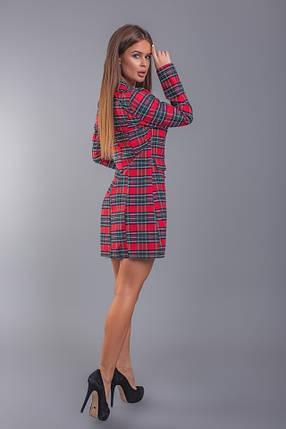 """Короткое стильное платье-пиджак в клетку """"TIARA"""" на пуговицах, фото 2"""