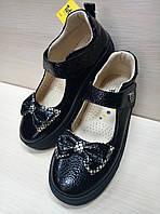 Школьные кожаные лаковые туфли Tutubi для девочки Размер 32