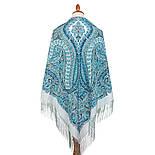 Великолепный век 1867-11, павлопосадский платок (шаль, крепдешин) шелковый с шелковой бахромой, фото 8