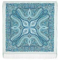 Великолепный век 1867-11, павлопосадский платок (шаль, крепдешин) шелковый с шелковой бахромой, фото 1