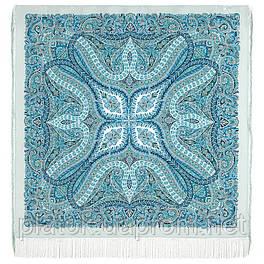 Великолепный век 1867-11, павлопосадский платок (шаль, крепдешин) шелковый с шелковой бахромой