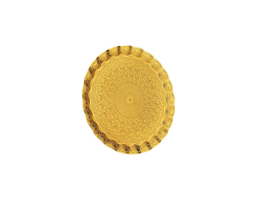 Поднос Sena медный круглый золотистый 54 см
