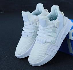 Женские кроссовки Adidas EQT Bask ADV W белые. Живое фото. 36-40рр. (Реплика ААА+)