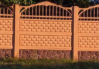 Бетонный забор (РАССРОЧКА НА 4 МЕСЯЦА) Киев-Одесса Кирпич