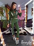 Женский комплект со светоотражающими вставками: брюки карго + бомбер (в расцветках), фото 2