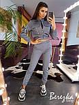 Женский комплект со светоотражающими вставками: брюки карго + бомбер (в расцветках), фото 3
