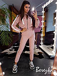 Женский комплект со светоотражающими вставками: брюки карго + бомбер (в расцветках), фото 4