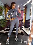 Женский комплект со светоотражающими вставками: брюки карго + бомбер (в расцветках), фото 8