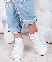 Кеды женские белые кожаные