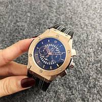Часы наручные в стиле Hublot 6101 Black-Gold Chronograph
