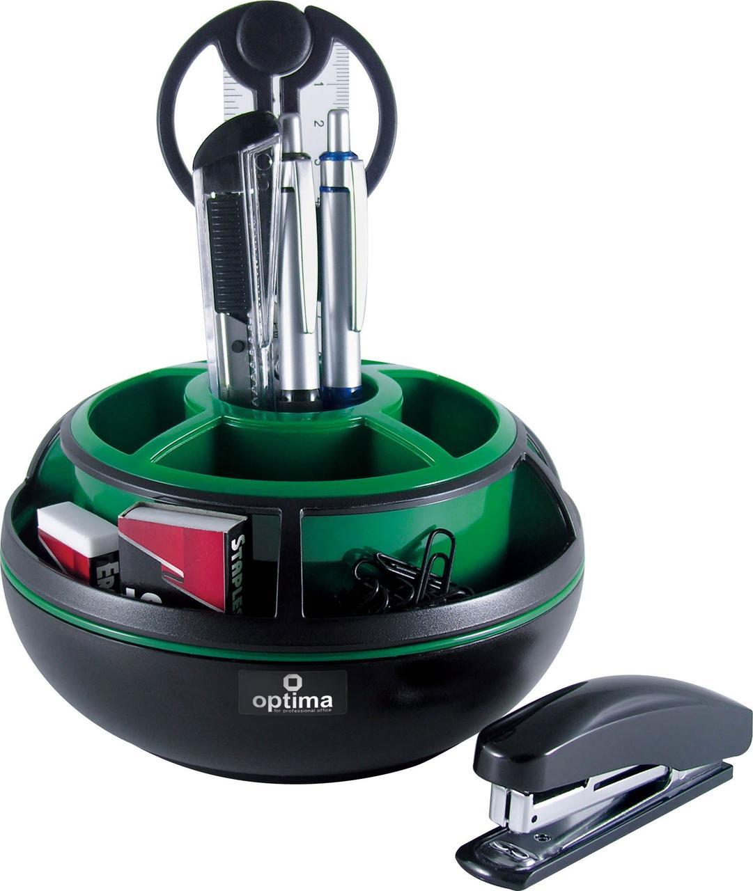 Настольный набор Optima O31724-04 зеленый, 9 предметов