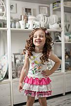 Детское платье для девочки Artigli Италия A06128 Белый