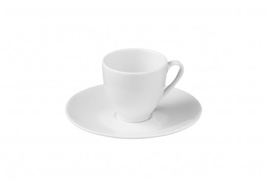 Чашка чайная с блюдцем (200 мл) Alt Porcelain CaBaRe Белая (F2120+F2121)