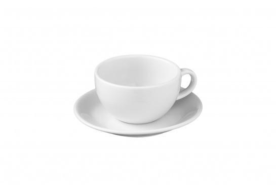 Чашка с блюдцем Cappuccino (290мл) Alt Porcelain CaBaRe Белая (F2413+F2414)