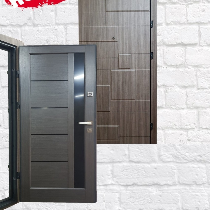 Дверь Уют ДУЭТ МДФ/Новый стиль Дуб кантри (86 см)