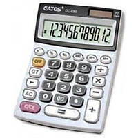 "Калькулятор ""EATES"" DC-690 (12 разр. 2 питания, прозр. кнопки) (00517)"