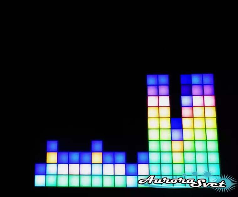Светодиодная пиксельная панель настенная W-62-16*16-1