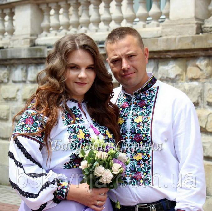 Парні вишиванки.Сорочка жіноча + сорочка чоловіча МВ-128п