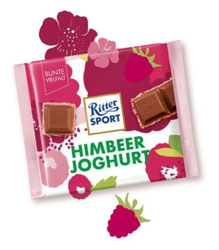 Шоколад Ritter Sport Himbeer joghurt 100 г