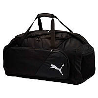 Сумка спортивная Puma Liga Large Bag 075208 01 (черная, боковой карман, большего размера, бренд пума)