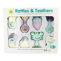 Подарочный набор для новорожденного Rattles&Teethers (8 предметов)