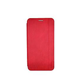 Чехол книжка для Samsung Galaxy A70 A705FD боковой с отсеком для визиток Gelius, Натуральная кожа, красный