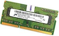 Оперативная память для ноутбука Micron SODIMM DDR3L 2Gb 1600MHz 12800s CL11 1R8 (MT8KTF25664HZ-1G6M1) Б/У, фото 1