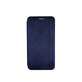 Чехол книжка для Samsung Galaxy A70 A705FD боковой с отсеком для визиток Gelius, Натуральная кожа, синий