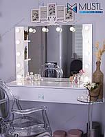 Гримерное зеркало с подсветкой 100х80