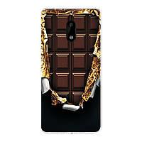 Чехол с рисунком Printed Silicone для Nokia 6 Шоколадка