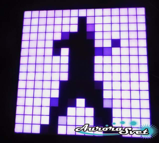 Светодиодная пиксельная панель настенная W-66-15*15-1