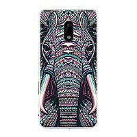 Чехол с рисунком Printed Silicone для Nokia 6 Слон