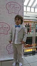 Детский нарядный пиджак для мальчика BABY A Италия B0833J беж