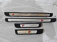 Накладки на пороги S-Line комплект AUDI A4 B8 (2011)