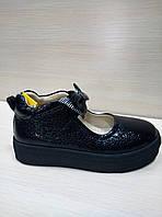Школьные кожаные туфли лаковые Tutubi для девочки Размеры 30