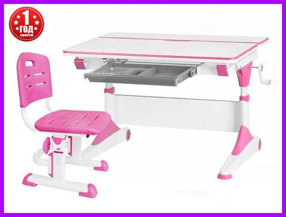Комплект Evo-Kids стол Alberto Evo-500 WP + стул Evo-301 PN