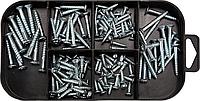 Набор саморезов по дереву оцинкованных, 192 шт, YATO
