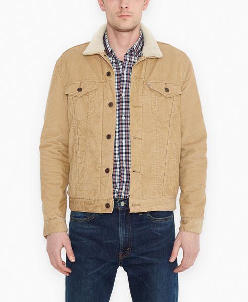 Зимняя вельветовая куртка Levis Trucker - Chino (XL)