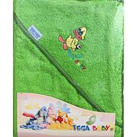 Детское махровое полотенце с капюшоном для купания Tega Balbinka 100x100 TG-071