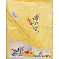 Детское махровое полотенце с капюшоном для купания Tega Balbinka 80x80 TG-071
