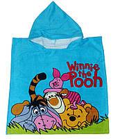 """Пончо пляжное (детское) """"Winnie the pooh"""" Piramit"""
