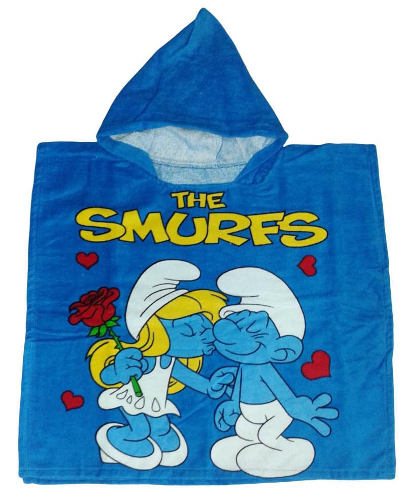 "Пончо пляжне (дитяче) ""The smurfs 2"" Piramit"