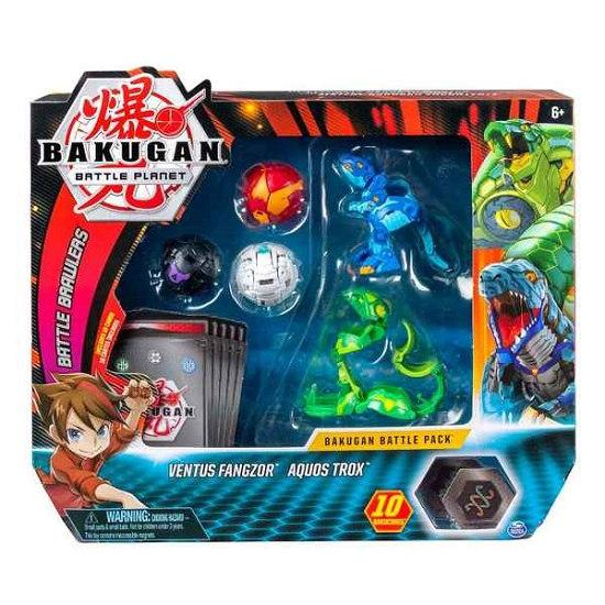 Bakugan.Battle planet: набор 5 бакуганов Фангзор и Трокс (Ventos Fangzor & Aquos Trox)