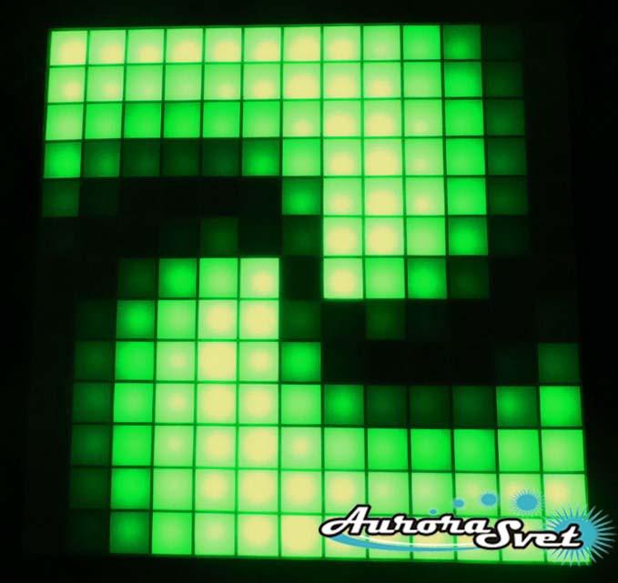 Светодиодная пиксельная панель настенная W-77-13*13-4