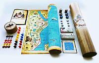 Настольная игра бродилка - Захват колоний (на холсте, в тубусе)