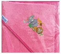 Детское махровое полотенце с капюшоном для купания Tega Safari 80x80 SF-009