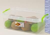 Контейнер для хранения продуктов с зажимами Elit- 4л низкий