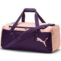 Сумка спортивная Puma Fundamentals Medium Sports Bag 075528 07 (индиго, боковой карман, средняя, бренд пума)